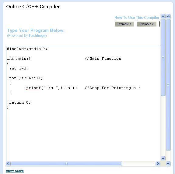 Online C/++ compiler
