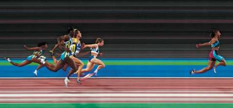 Marion Jones winning 100m at Sydney Olympics