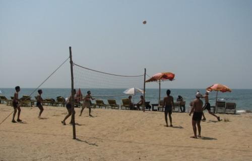 Beach Volleyball on Vagator beach, Goa